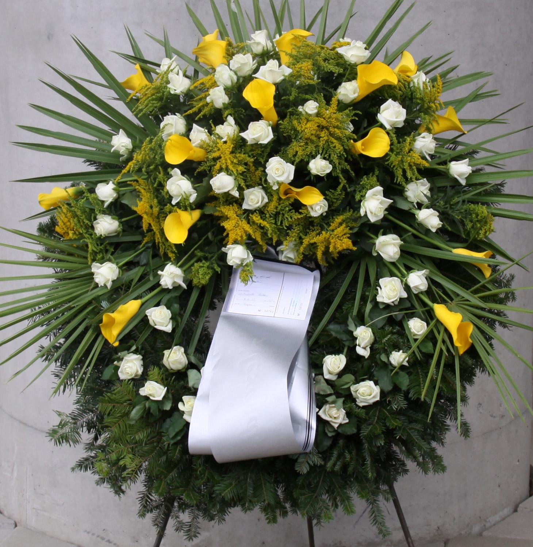 Kopfkranz Rundung gelb-weiss - Blumen Kalch - Gärtnerei ...